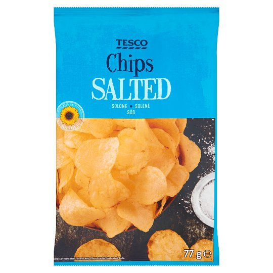 Tesco Salted Chips 77 g