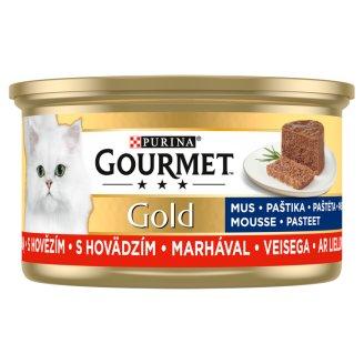 Gourmet Gold Paté Wet Cat Food with Beef 85 g