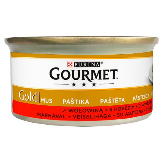 Gourmet Gold Paté with Beef Complete Pet Food for Adult Cats 85 g