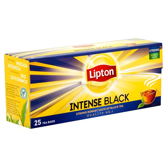 Lipton Intense Black Black Tea 25 Tea Bags