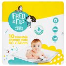 Fred & Flo Reusable Change Mats 60 x 60 cm 10 pcs