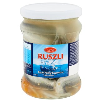 Classic Ruszli Marinated Herring with Onion and Sweetener 400 g