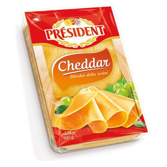Président Cheddar szeletelt sajt 100 g