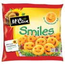 McCain Smiles Frozen, Half-Fried Smiley Potato Chips 450 g