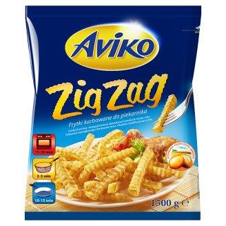 Aviko Zig Zag elősütött, gyorsfagyasztott, cikcakkos hasábburgonya sütőbe 1500 g