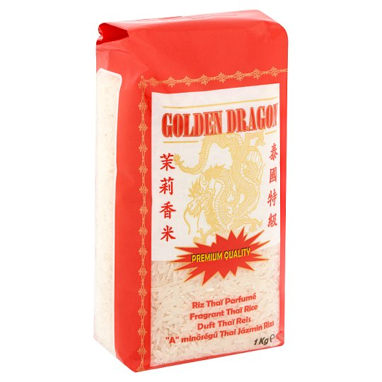 "Golden Dragon ""A"" Quality Thai Jasmine Rice 1 kg"