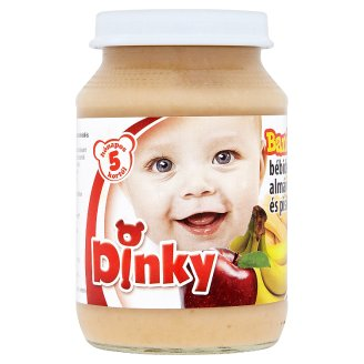 Dinky Banana Dessert with Apple and Sponge Cake with Gluten for Babies 5+ Months 190 g