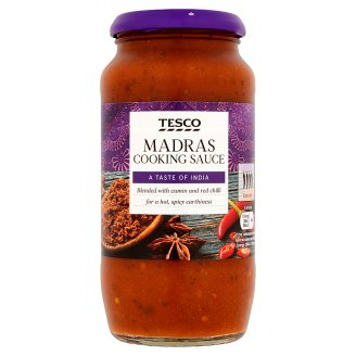 Tesco Madras Very Hot Spicy Sauce with Tomato and Onion 500 g
