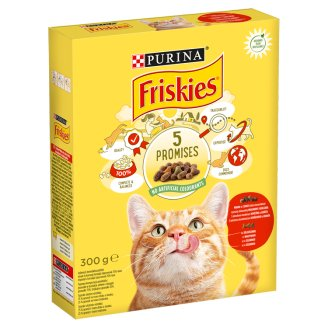 Friskies Complete Pet Food for Adult Cats with Meat, Chicken and Vegetables 300 g