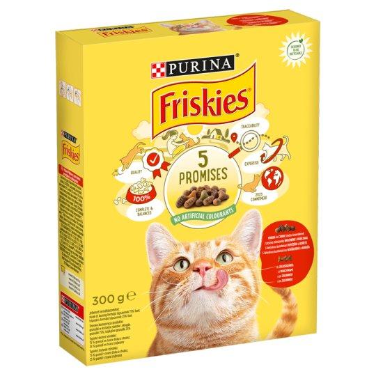 Friskies teljes értékű állateledel felnőtt macskák számára marhával, csirkével és zöldségekkel 300 g