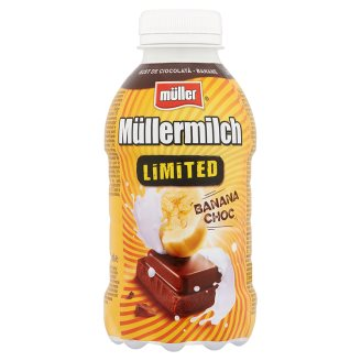 Müller Müllermilch Limited Chocolate and Banana Flavoured Low-Fat Drink 376 ml