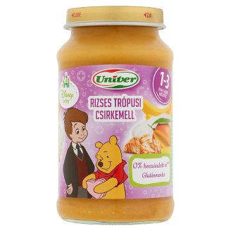 Univer Tropical Chicken Breast with Rice for Babies 12 Months+ 220 g