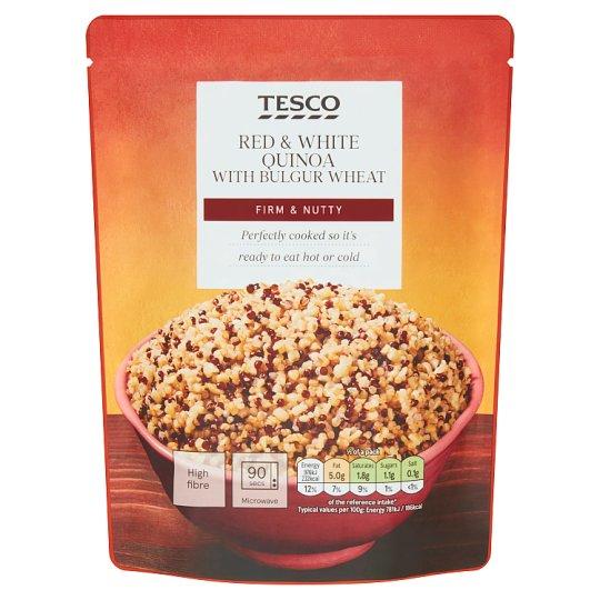 Tesco főtt fehér quinoa, piros quinoa és bulgur keveréke 250 g