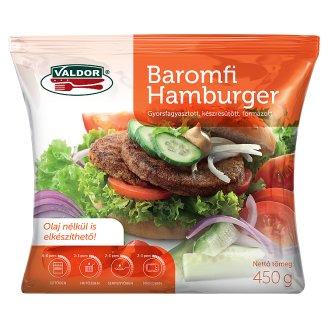 Valdor gyorsfagyasztott baromfi hamburger 450 g