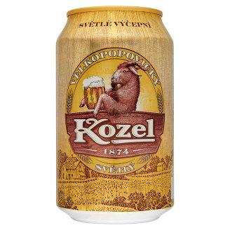 Velkopopovický Kozel világos sör 4% 0,33 l