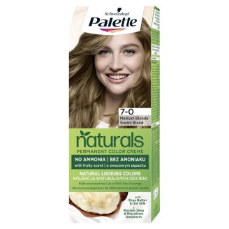 Schwarzkopf Palette Permanent Naturals Color Creme Hair Colorant 7-4 Medium Blonde (400)