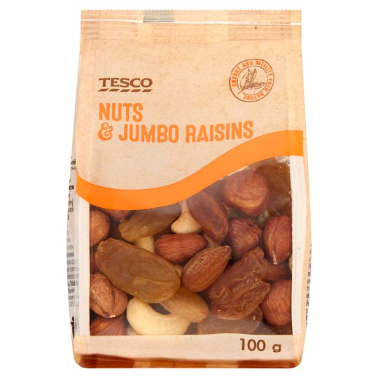Tesco Nuts & Jumbo Raisins 100 g