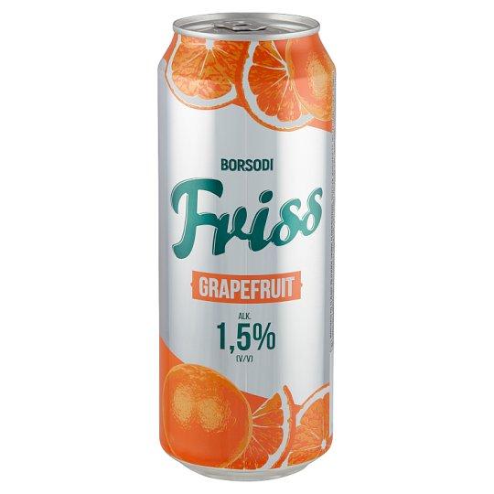 Borsodi Friss grapefruitos ital és világos sör keveréke 1,5% 0,5 l