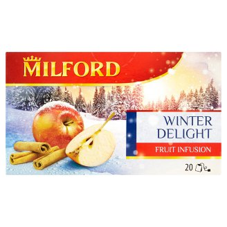 Milford Winter Delight Flavoured Fruit with Apple and Cinnamon Taste 20 Tea Bags 50 g