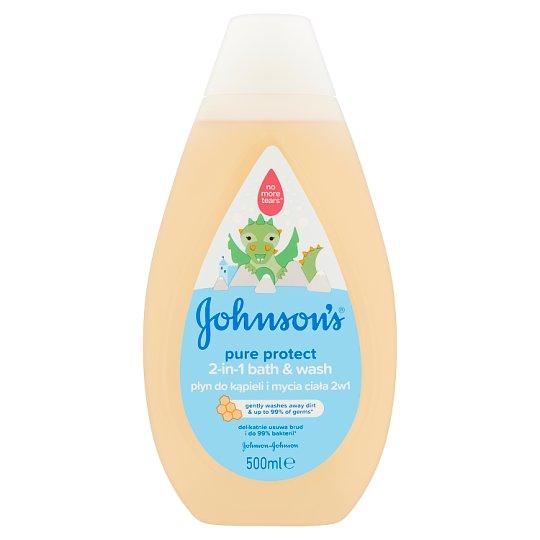 JOHNSON'S® Pure Protect 2-in-1 Bath & Wash 500 ml