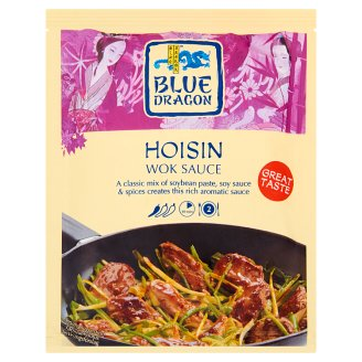 Blue Dragon Slightly Hot Wok Hoisin Sauce with Soya Sauce, Garlic and Spices 120 g