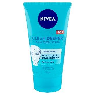 NIVEA Clean Deeper Daily Wash Scrub for Blemish Prone Skin 150 ml