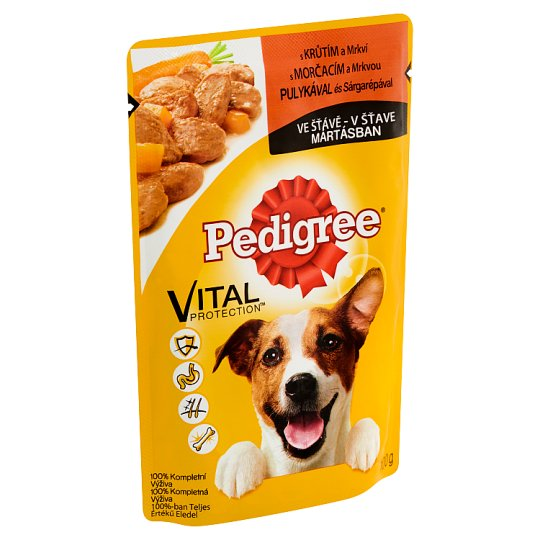 Pedigree Vital Protection Complete Pet Food for Adult Dogs with Turkey in Gravy 100 g