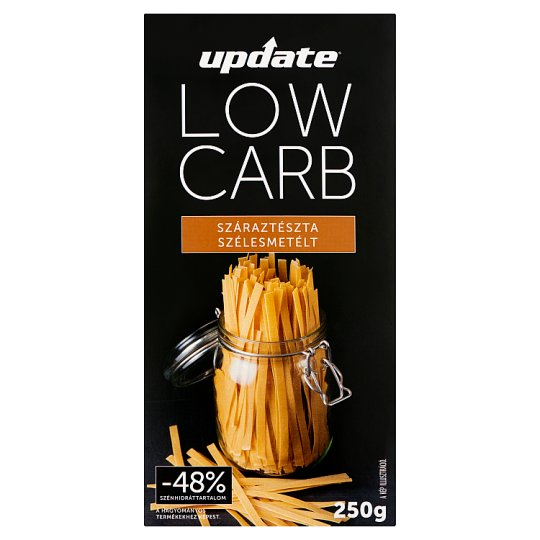 Update Low Carb Wide Noodles Dried 4-Egg Pasta 250 g