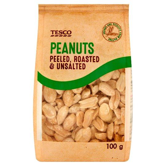 Tesco Peeled Roasted & Unsalted Peanuts 100 g