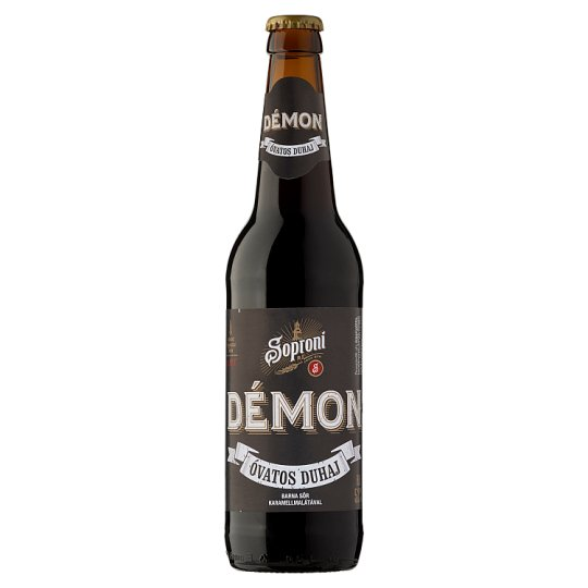 Soproni Óvatos Duhaj Démon minőségi barna sör 5,2% 0,5 l üveg