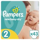 Pampers New Baby-Dry Size 2 (Mini) 3-6 kg, 43 Nappies