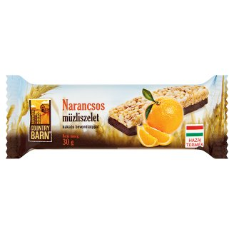 Country Barn Orange Flavoured Muesli Bar with Cocoa Base 30 g
