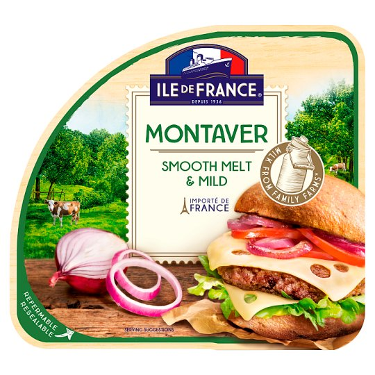 Ile de France Montaver Sliced Fat Semi-Hard Cheese 100 g