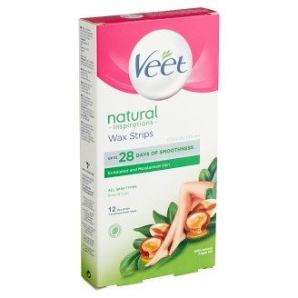 Veet Natural Inspirations Wax Strips 12 pcs