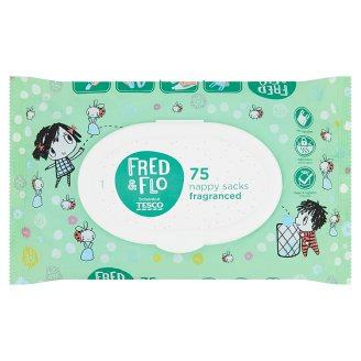 image 1 of Tesco Fred & Flo Fragranced Nappy Sacks 75 pcs
