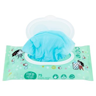 image 2 of Tesco Fred & Flo Fragranced Nappy Sacks 75 pcs