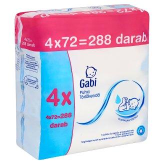 Gabi puha törlőkendő 4 x 72 db