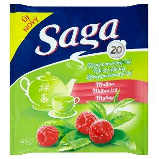 Saga Raspberry Flavoured Green Tea 20 Tea Bags