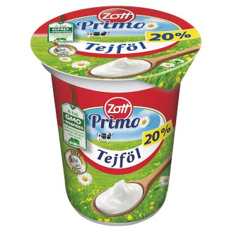Zott Natura Semi-Fat Sour Cream 20% 330 g