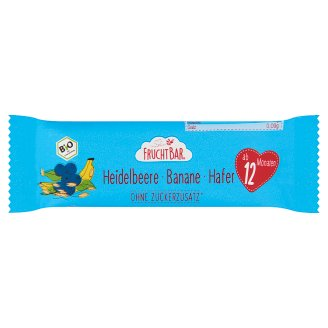 FruchtBar Organic Muesli Bar with Oatmeal, Blueberry and Banana 12 Months+ 23 g