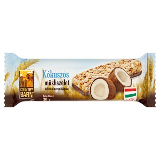 Country Barn Coconut Flavoured Muesli Bar with Cocoa Base 30 g