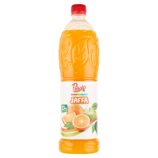 Pölöskei Jaffa Orange Flavoured Fruit Syrup with Sugar and Sweetener 1 l