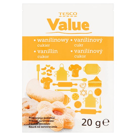 Tesco Value vanillin cukor 20 g