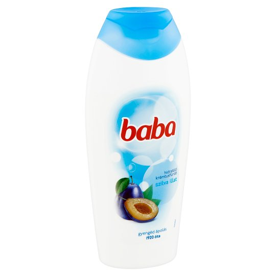 Baba Moisturizing Cream Shower Gel with Plum Fragrance 400 ml