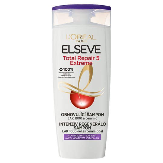 L'Oréal Paris Elseve Total Repair Extreme Shampoo for Dry, Damaged Hair 400 ml
