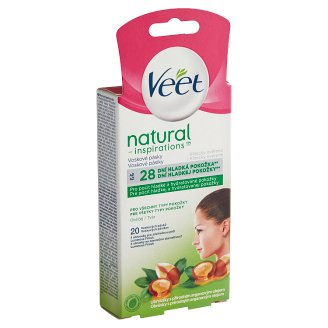 Veet Natural Inspirations Cold Wax Strips for Face with Wipes 20 pcs