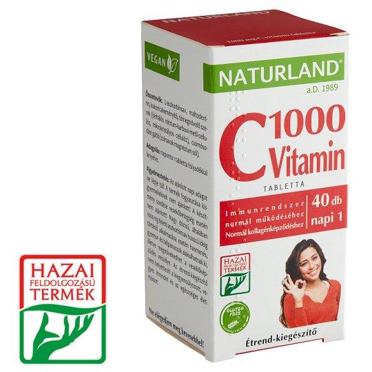 Naturland Premium 1000 mg Vitamin C Supplement Pills 40 pcs 53,04 g