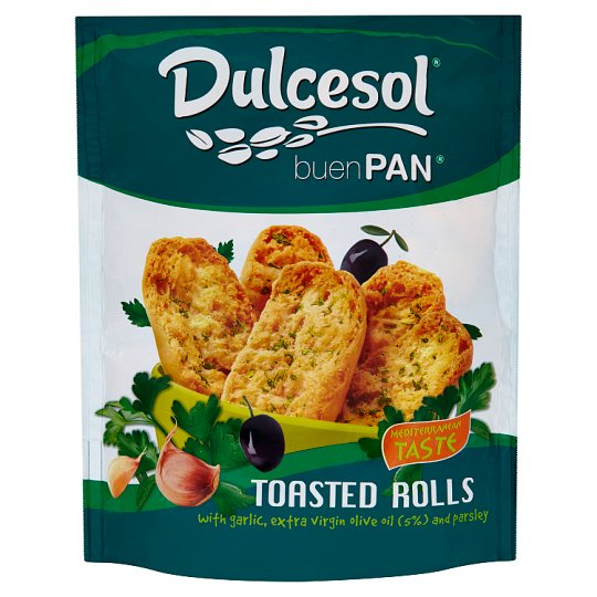Dulcesol Buen Pan Toasted Rolls with Garlic, Olive Oil and Parsley 160 g