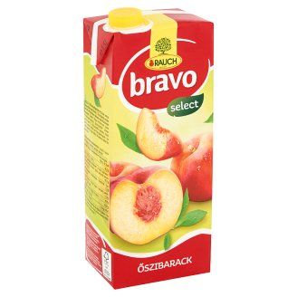 Rauch Bravo Peach Fruit Drink with Sugar, Sweeteners and Vitamin C 1,5 l