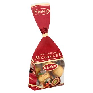 Mirabell Mozartkugeln Chocolates with Light and Dark Praline Fillings and Marzipan 150 g